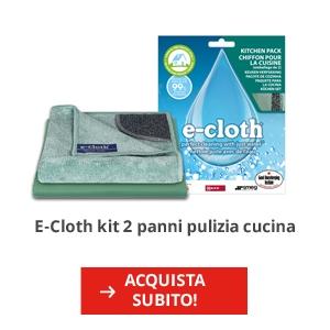 E-Cloth kit 2 panni per la pulizia cucina