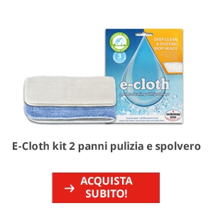 E-Cloth kit 2 panni pulizia e spolvero pavimenti