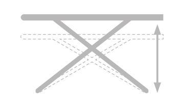 Asse da stiro Vaporella- Facile da aprire e chiudere